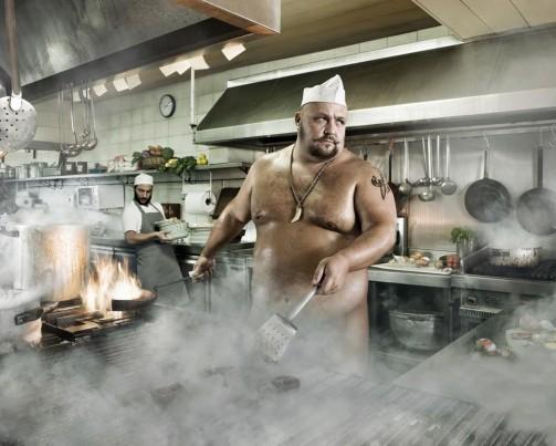 тетки на кухне голые